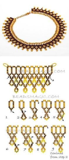 Seed Bead Necklace Projects Lovely Free Pattern for Necklace Spring Flowers Seed Beads 11 0 Seed Beads Diy Necklace Patterns, Beaded Earrings Patterns, Beaded Bracelets, Necklaces, Bead Patterns, Bead Jewellery, Jewelry Making Beads, Making Bracelets, Wire Jewelry
