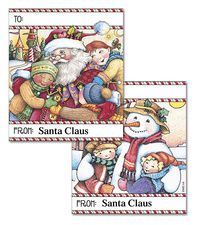 Mary Engelbreit's Holiday Hugs Personalized To/From Labels  (2 Designs) is the perfect finishing touch to a carefully wrapped present! Offered from Colorful Images