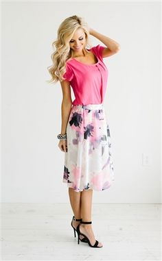 Purple Pink Skirt Modest Skirt, Spring Dresses, Church Dresses, dresses for church, modest bridesmaids dresses, trendy modest dresses, modest womens clothing, affordable boutique dresses, cute modest dresses, mikarose, modest bridesmaids dresses