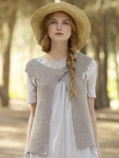 .I would love to have someone make me that little vest. so lovely and soft. Can I have the hair and the hat too?