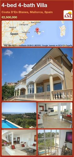 Villa for Sale in Costa D'En Blanes, Mallorca, Spain with 4 bedrooms, 4 bathrooms - A Spanish Life Murcia, Valencia, Modern American Kitchens, Barcelona, Underfloor Heating, Al Fresco Dining, Entrance Hall, Double Bedroom, Open Plan Living