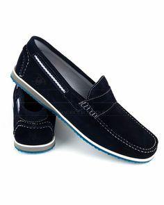 Zapatos náuticos Leyva - Azul Marino