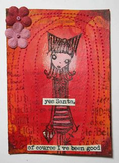 ATC Good girl for Santa TRADED by thekathrynwheel, via Flickr