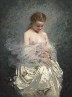 Шарль Джошуа Шаплен (Charles Joshua Chaplin), 1825-1891. Франция. 1857_Девушка с обнаженной грудью (Young girl with naked breasts)