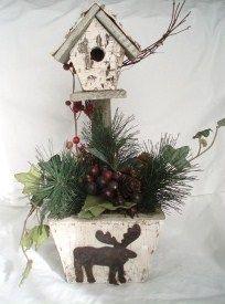 how to: miniature Christmas birdhouse Christmas Barbie, Christmas Bird, Miniature Christmas, Christmas 2015, Christmas Wreaths, Christmas Crafts, Merry Christmas, Xmas, Christmas Ornaments