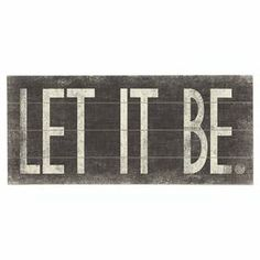 Let it Be Wall Decor