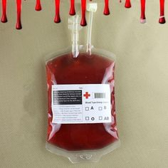 300ML Clear Reusable Blood Energy Drink Bag Halloween Cosplay Vampire Beverage Food Grade PVC Bags Pouch Props Party Supplies