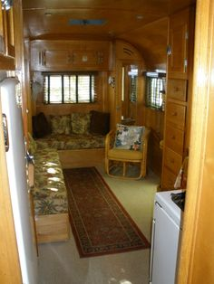 1951 travel trailer with wood interior