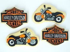 Harley-Davidson Cookie Deco Idea (if i'm ever feeling that ambitious)