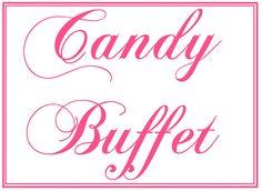 Custom Printable Wedding Candy Buffet Sign. via Etsy.