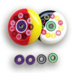 skates roller a set containing 8 Wheels & 16 ILQ-9/11 bearing & 8 Spaces PU skates Wheels 88A 72/76/80mm Braking Roller I30
