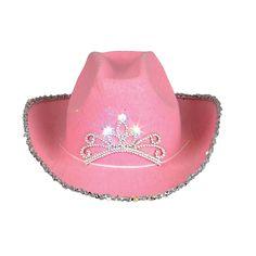 Blinking Pink Tiara Cowboy Hat (Child) | BirthdayExpress.com