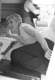 David Bowie during the filming of The man who fell to Earth, 1975