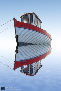 Boat by Brian Denton on Old Boats, Small Boats, Float Your Boat, Boat Art, Reflection Photography, Boat Stuff, Water Reflections, Sail Away, Wooden Boats