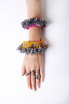 """PASTIC"" by ARTS THREAD member SHAI ALBOJM, alumni SHENKAR COLLEGE OF ENGINEERING AND DESIGN Jewelry Design BDes, exhibiting with us at DESIGNERSBLOCK for London Design Festival LDF 15 September 24-27 2015"
