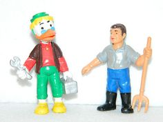 "Collectible DISNEY PVC FIGURES Toy 3"" BULLY BULLYLAND WEST GERMANY TOYS Set of 2"
