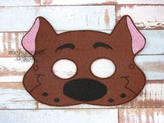 Scooby Doo - Felt Dress Up Masks - Birthday Party Favor Halloween by ArielsCustomDesigns on Etsy
