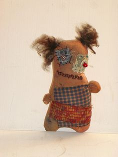 Grungy Monster Doll Elenora Art DollMixed by MysticHillsNgaroma, $55.00 https://www.etsy.com/listing/105386632/grungy-monster-doll-elenora-art-doll