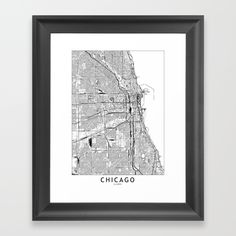 A simple map of Chicago