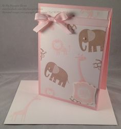 Zoo Babies, Label Love, Artisan Label punch baby girl card