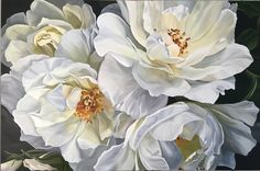 Flower Drawing Learn more about Jenny Fusca Art Floral, Abstract Flower Art, Large Flowers, White Flowers, Beautiful Flowers, Botanical Flowers, Botanical Art, Watercolor Flowers, Watercolor Art