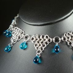 Pool of Tears  Chain Maille Necklace by blackbirdmaille on Etsy, $38.00