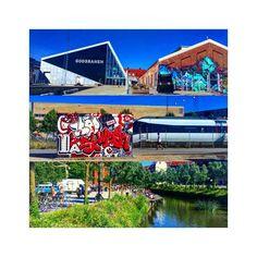 How can you not love Aarhus on a Sunday  #aarhus #denmark #sightseeing #walk #sunday #fleamarket #mølleparken #godsbanen #grafitti #walls #beautiful #weather #summer #hot #amazing #åen #people #shopping #danish #culture #city #workshops #auditoriums #stages #cultural #cafe #restaurant #events #dsb #art