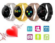 2016new Runde Bluetooth Smart Uhren Uhr Klassische Gesundheit Metall Smartwatch mit Pulsmesser für Android ISO iPhone Telefon //Price: $US $53.90 & FREE Shipping //     #smartuhren
