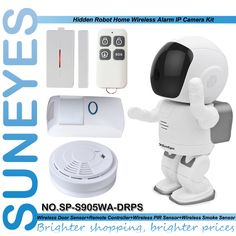 129.68$  Buy here - http://aliv6u.worldwells.pw/go.php?t=32713811858 - SunEyes SP-S905WA-DRPS 1.3MP Wireless Wifi IP Camera with Door Sensor Remote Control PIR Sensor Smoke Sensor Surveillance Camera 129.68$