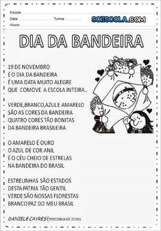 4 Atividades Dia da Bandeira - Para Imprimir - Series Iniciais. Yoga For Kids, Primary School, Professor, Memes, Social Studies Activities, Poetry Activities, Letter E Activities, Abc Centers, Sight Word Activities
