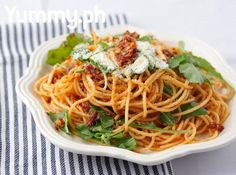 A healthy but filling pasta dish!SPAGHETTI WITH SUNDRIED TOMATOES AND ANCHOVIES
