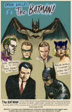 My film and comic dreams unite!! Orson Welles as Batman?! Holy hell yes!!!