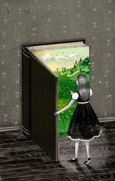 Art and illustration I Love Books, Good Books, Reading Art, Woman Reading, Book Illustration, Magazine Illustration, Alice In Wonderland, Book Lovers, Book Worms