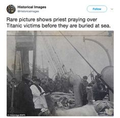 "A moving image captures the aftermath of the Titanic disaster as a priest says blessings for victims of the famed ""Unsinkable"" ship.    In the early morning hours of April 15, 1912, the Titanic collided with an iceberg on its maiden voyage from Southampton to New York City. More than 1,500 people were killed."