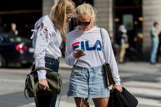 Fila Champion and More: Why Fashion Loves the '90s  During New York Fashion Week expect to see a lot of '90s-inspired hoodies and overalls from brands including Fila Champion and more.  http://ift.tt/2caYB6w