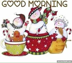 Cute Christmas Good Morning Quote