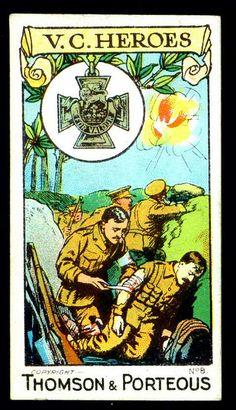 Cigarette Card - Victoria Cross Heroes #8 by cigcardpix, via Flickr  Capt H.S. Ranken VC, RAMC