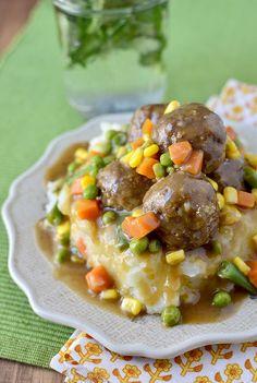 Shepherds Pie Meatballs & Mashed Potatoes