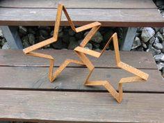 Vintage Gartendeko - Zwei schöne Sterne aus Edelrost im Set,Stern - ein Designerstück von Little-Things-K-A bei DaWanda