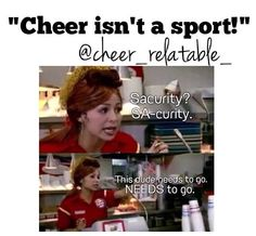 """Lol I remember this """"welcome to king burger where we do it your way but don't get crazy! Cheer Quotes, Cheer Sayings, Cheer Funny, Cheer Coaches, Fitness Gifts, Cheer Bows, Just The Way, Best Memories, Weight Lifting"""