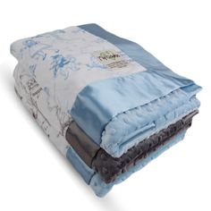"My Blankee creates exemplary baby gifts to whichever end you choose: receiving blanket, snuggle blanket, crib bedding, etc. Our classic velour prints and silky charmeuse satins are sure to please you and your baby. Lovey, Blankee, and Security come with 2"" Satin Border. Stroller size and up come with a 3"" Satin Border. Features: 100% Microfiber Polyester, Hypoallergenic, Machine wash cold, low tumble dry, Made in the USA."
