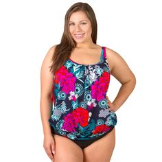 0170c4e52014b Underwire Plus Size Blouson Swimsuit Top - Eastern Exotic