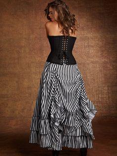 1effcd5c3c6 Steampunk Skirts. Steampunk CostumeSteampunk JacketSteampunk  ClothingSteampunk FashionStripe SkirtPlus Size DressesPlus ...