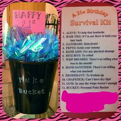 21st birthday survival kit gift