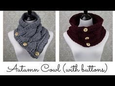 Autumn Leaf Cowl (with buttons) - YouTube