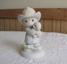 Precious Moments Love Rescued Me Figurine Fireman and his