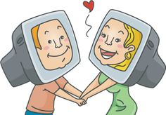 This cartoon shows the positive effects of online dating. It also shows how couples can fall in love and have a relationship in a real life through online dating.