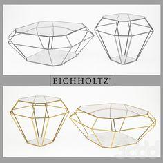 Eichholtz_table coffee asscher gold & nickel