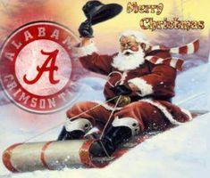 santa in Alabama | Alabama and Santa in a sleigh 2012 | University of Alabama RTR