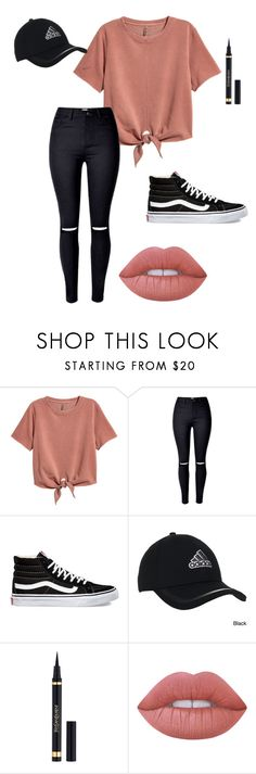 """School outfits"" by madzzbrookez on Polyvore featuring Vans, adidas, Yves Saint Laurent and Lime Crime"